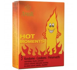 Sexy Shop Online I Trasgressivi - Profilattici - Effetto Caldo Hot Moments - Amor