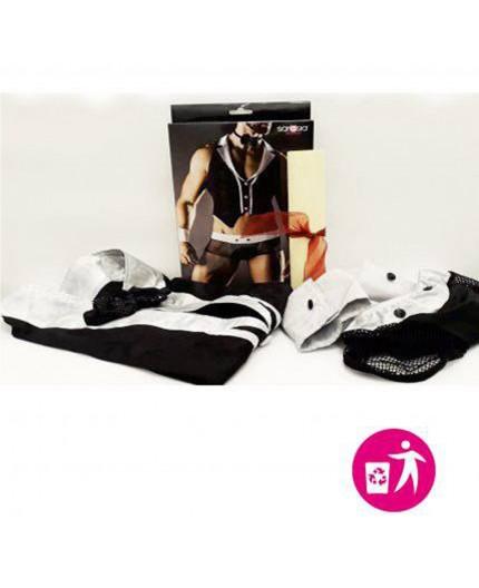Sexy Shop Online I Trasgressivi - Abbigliamento RottAmato - Costume Uomo Barista Sexy - Saresia
