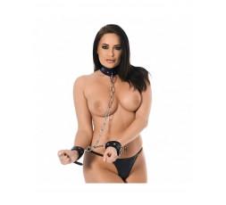 Sexy Shop Online I Trasgressivi - Costrittivo - Collare E Polsini Con Catena - Rimba