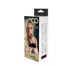 Sexy Shop Online I Trasgressivi - Costrittivo - Polsini Regolabili Nero e Rosso - Guilty Pleasure