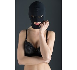 Sexy Shop Online I Trasgressivi - Maschera BDSM - Maschera Nera Elasticizzata Con Triplice Apertura - Guilty Pleasure