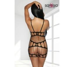 Sexy Shop Online I Trasgressivi - Abito Sexy - Mini Abito Nero Con Fori Mini Dress Black - Saresia
