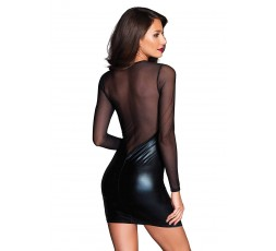 Sexy Shop Online I Trasgressivi- Abito Sexy - Mini Abito Nero Lame Deep V Mini Dress - Leg Avenue