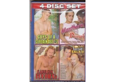 Set 4 Dvd Gay - Daddy Gets Fluffed e Stuffed