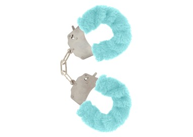 Costrittivo - Furry Fun Cuffs Aqua - Toy Joy