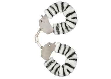 Costrittivo - Furry Fun Cuffs Zebra - Toy Joy