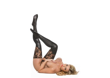 Calze & Collant - Lace Thigh Thights Black - Allure