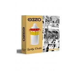 Sexy Shop Online I Trasgressivi - Profilattico - Lucky Dude Stimulating Condom - Egzo