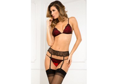 Sexy Lingerie - Crown Pleasure Garter Set - René Rofé
