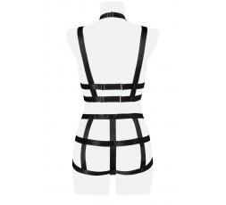 Sexy Shop Online I Trasgressivi - Sexy Lingerie - Two Part Harness Set - Grey Velvet