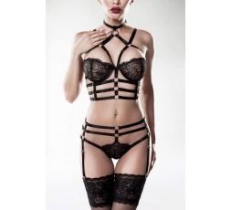 Sexy Shop Online I Trasgressivi - Sexy Lingerie - 2 Piece Harness Set - Grey Velvet