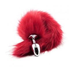 Sexy Shop Online I Trasgressivi - Plug Con Coda - Plug Anale Con Coda Long Fox Tail Rossa - Fetish Art