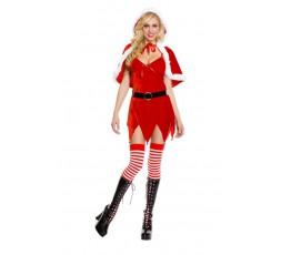 Sexy Shop Online I Trasgressivi - Costume Di Natale Con Cappuccio - Music Legs