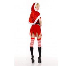 Costume Di Natale Con Cappuccio - Music Legs