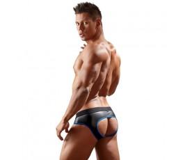 Sexy Shop Online I Trasgressivi - Intimo Uomo - Slip Aperto In Neoprene Nero e Azzurro - Svenjoyment