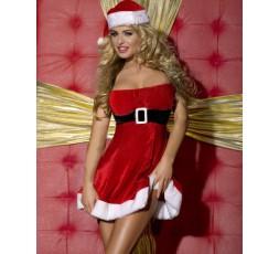 Sexy Shop Online I Trasgressivi - Costume Di Natale - Tubino Rosso Velluto