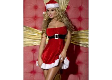 Il consiglio del giorno: Natale Donna - Costume Tubino Rosso Velluto