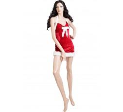Sexy Shop Online I Trasgressivi - Costume Di Natale - Abito In Velluto Rosso