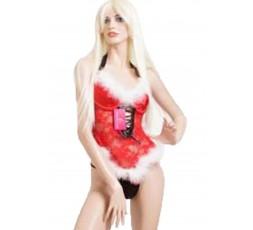 Sexy Shop Online I Trasgressivi - Costume Di Natale - Corpetto Rosso