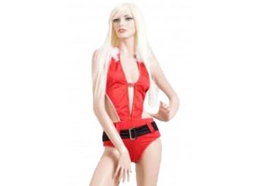 Natale Donna - Costume da Bagno Natalizio Rosso