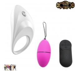 Sexy Shop Online I Trasgressivi - Kit e Set Per Coppia Vibrante - Kit con Anello Fallico Vibrante e Ovulo Vibrante Wireless