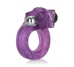 Sexy Shop Online I Trasgressivi - Anello Fallico Vibrante - Intimate Butterfly Ring Purple - California Exotic Novelties
