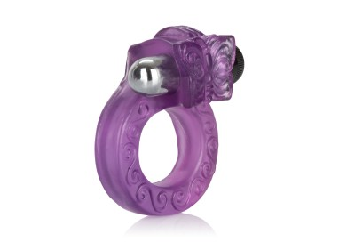 Anello Fallico Vibrante - Intimate Butterfly Ring Purple - California Exotic Novelties
