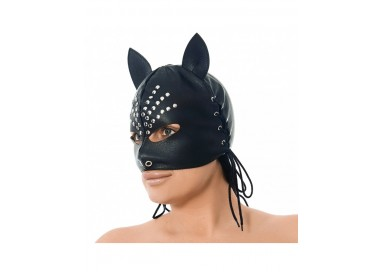 Accessorio Per Carnevale - Maschera Con Le Orecchie Decorato Con Rivetti - Rimba