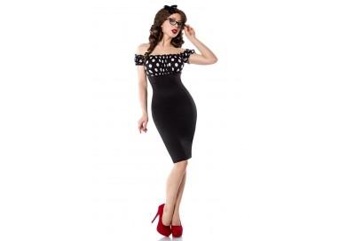Carnevale Donna - Costume da Vintage Pencil Dress Nero - Belsira