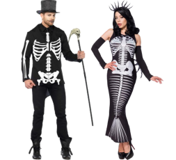 Sexy Shop Online I Trasgressivi - Carnevale Coppia - Costume Da Scheletro & Skeleton Mermaid