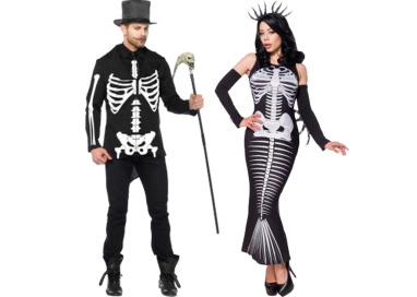 Carnevale Coppia - Costume Da Scheletro & Skeleton Mermaid