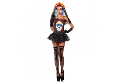 Il consiglio del giorno: Carnevale Donna - Costume da Sugar Skull Bustier - Leg Avenue