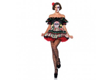Carnevale Donna - Day Of The Dead Doll - Leg Avenue