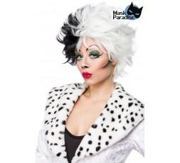 Sexy Shop Online I Trasgressivi - Parrucca Unisex - Cruel Lady Wig Dalmatian Wig - Mask Paradise
