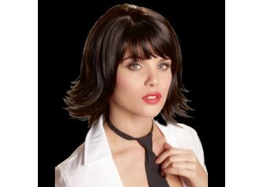 Parrucca Unisex - Liscia Nera Corta Joanne - Orion