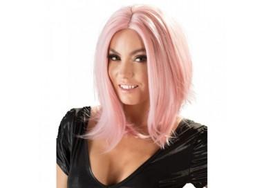Parrucca Unisex - Wig, Bob, Pink - Orion