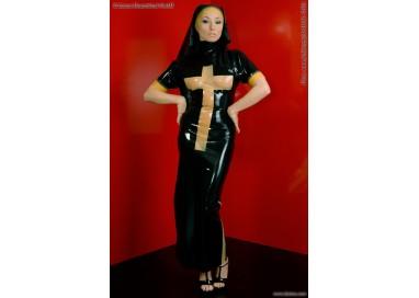 Il consiglio del giorno: Halloween Donna - Costume Lucido Da Suora In Lattice - Latexa