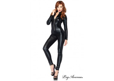 Carnevale Donna - Catsuit Con Zip Frontale