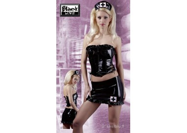 Sexy Shop Online I Trasgressivi - Carnevale Donna - Nurse Outfit Nero - Black Level