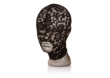 Accessorio Per Carnevale Unisex - Scandal Lace Hood Black - California Exotics