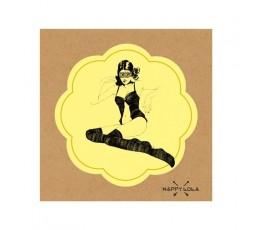 Sexy Shop Online I Trasgressivi - Accessorio Per Halloween Unisex - Maschera Nera Happy Lola HL - Rimba