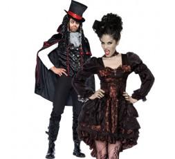 Sexy Shop Online I Trasgressivi - Carnevale Coppia - Costume Da Vampira & Da Vampiro Sexy