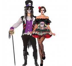 Sexy Shop Online I Trasgressivi - Carnevale Coppia - Costume da Day Of The Dead Doll & Da Prete Voodoo