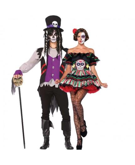 Sexy Shop Online I Trasgressivi - Carnevale Coppia - Costume da Day Of The Dead Doll & Da Prete Voodoo