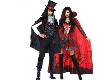 Carnevale Coppia - Mantello Da Vampira & Costume Da Vampiro Sexy