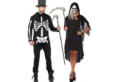 Carnevale Coppia - Costume Da Scheletro & Da Phantom Velvet