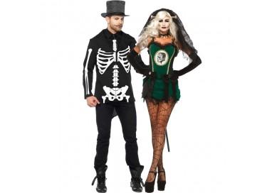 Carnevale Coppia - Costume da Frankenstein & Da Scheletro