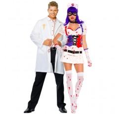 Sexy Shop Online I Trasgressivi - Carnevale Coppia - Costume da Dr. Phil Good & Infermiera Dell'Orrore