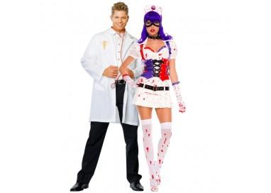 Carnevale Coppia - Costume da Dr. Phil Good & Infermiera Dell'Orrore