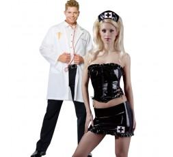 Sexy Shop Online I Trasgressivi - Carnevale Coppia - Costume da Dr. Phil Good & Nurse Outfit Nero